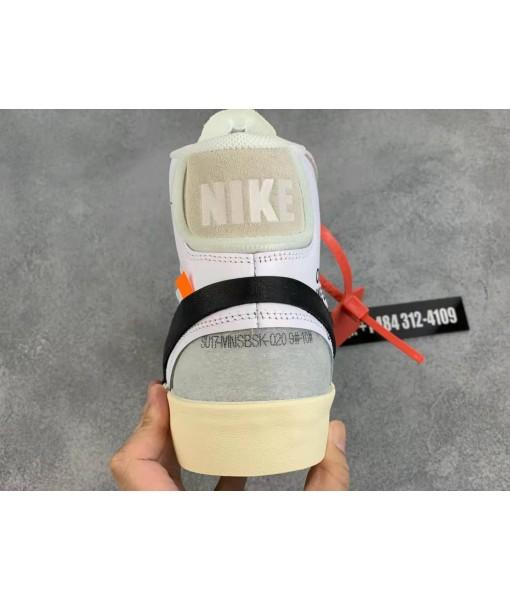 OG Quality Nike The 10 Blazer Mid 'Off-White' AA3832-100