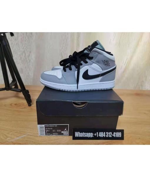 "Quality Replica Air Jordan 1 Mid ""Light Smoke Grey"" On Sale"