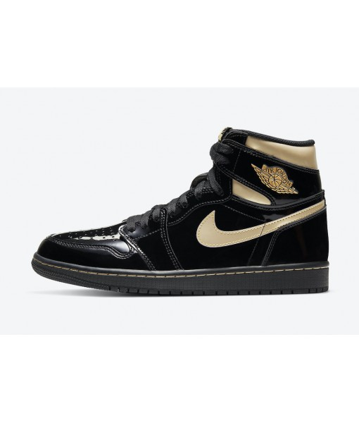 "Quality Replica Air Jordan 1 High OG ""Black/Metallic Gold"" On Sale"