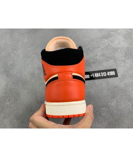 "Quality Replica Jordan 1 Mid Team ""Orange Black"""