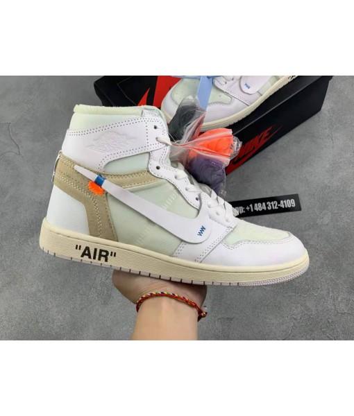 "High Quality Replica Off-white X Air Jordan 1 Retro High""white"""