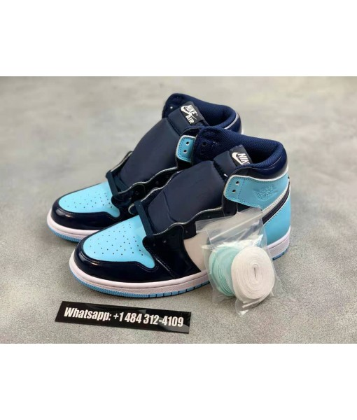 """Air Jordan 1 High """"UNC Patent Leather"""" For Womens"""