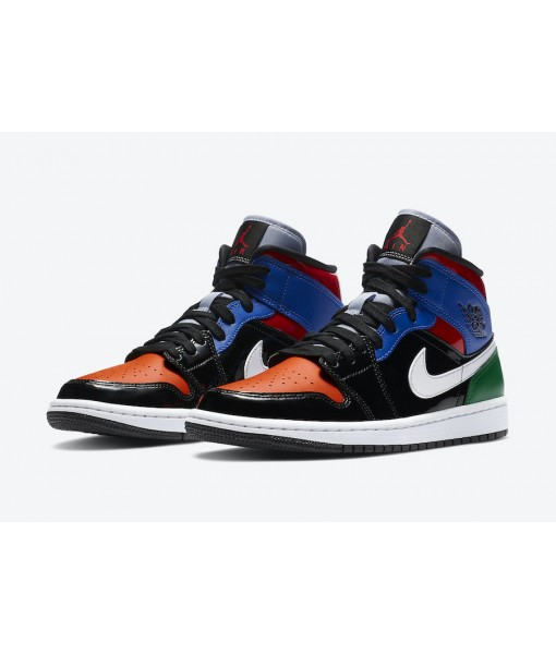 "Quality Replica Air Jordan 1 Mid SE ""Multi Patent"" On Sale"