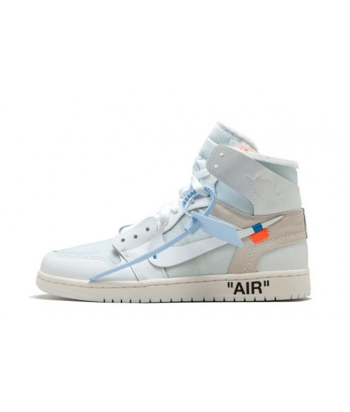 "High Quality Replica Off-white X Air Jordan 1 Retro High""white"""