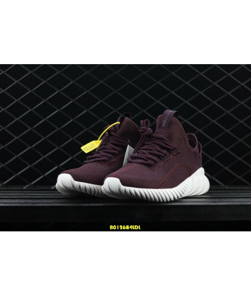 Adidas Tubular Doom Sock Primeknit Burgundy White On Sale