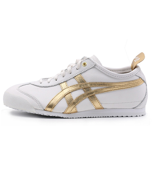 Asics Onitsuka Tiger Mexico 66 replica for Men White Gold Leather- D508K-0194