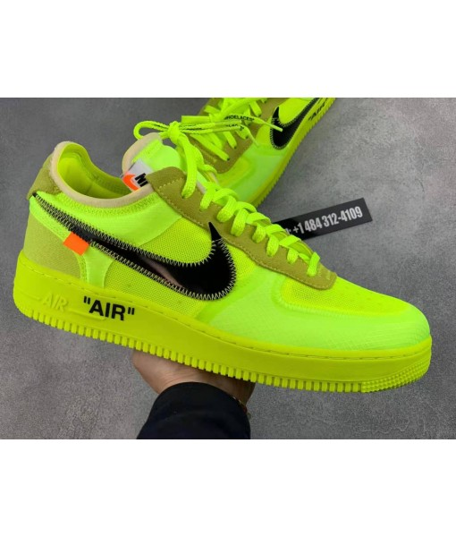 """Off-White x Nike Air Force 1 Low """"Volt"""" online sale"""