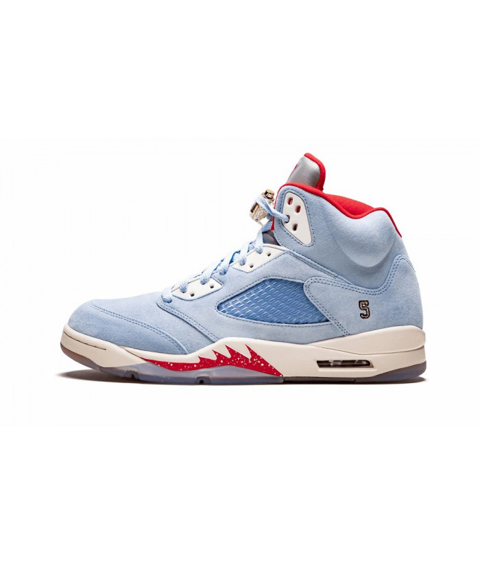 buy popular d278e a4ea1 AAA Cheap Trophy Room X Air Jordan 5 Retro Ice Blue Replica ...