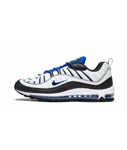 "High Imitation AAA Quality Air Max 98 ""White Black/Racer Blue"" Online For Sale"
