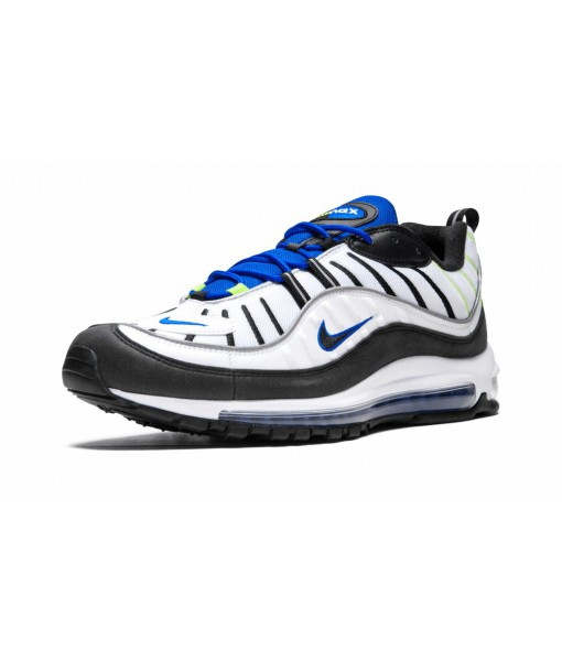 """High Imitation AAA Quality Air Max 98 """"White Black/Racer Blue"""" Online For Sale"""