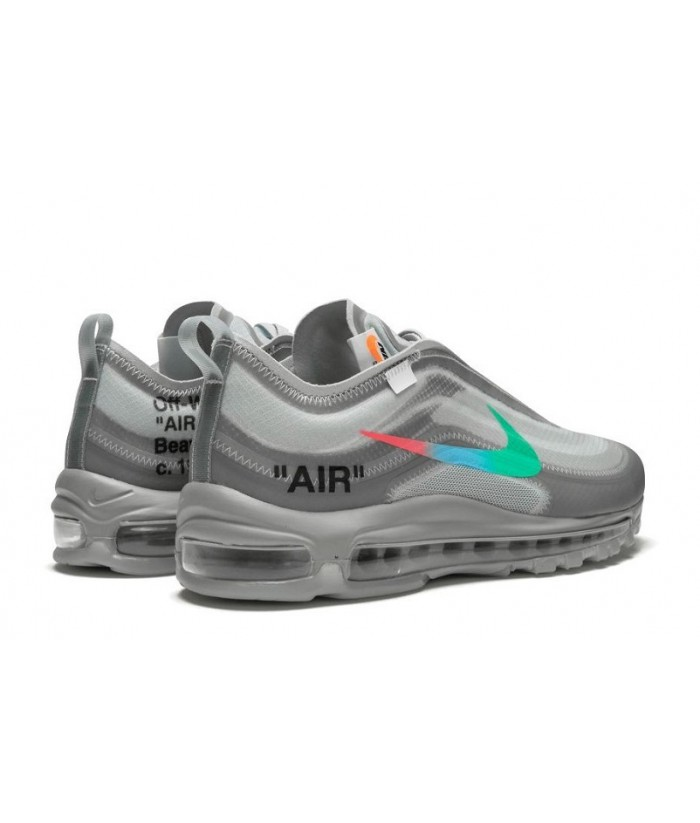 "High Quality Fake Virgil Abloh Off-White x Nike Air Max 97 ""Menta"" Online  for sale - AJ4585-101 - Off White/Wolf Grey-White-Menta 