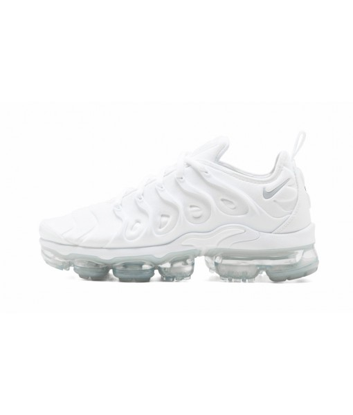 "Perfect Quality Fake Nike Air Vapormax Plus ""Triple White"" Online For Sale"