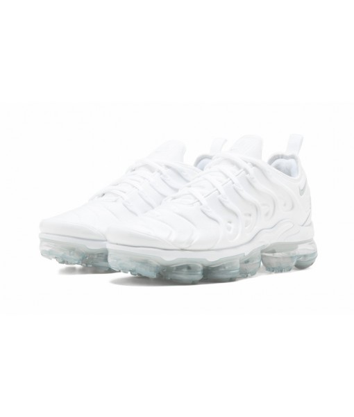"""Perfect Quality Fake Nike Air Vapormax Plus """"Triple White"""" Online For Sale"""