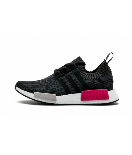 """Essential Pink""- Black adidas NMD R1 Primeknit Replica For Sale"