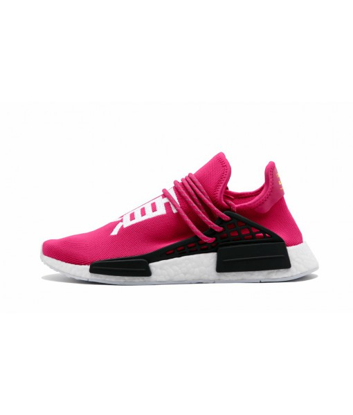 'Shock Pink'-Women's & Men's Pharrell × adidas NMD Human Race Replica